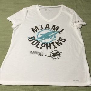 Nike Tops - NFL MIAMI DOLPHINS FOOTBALL TEAM BEAUTIFUL TOP